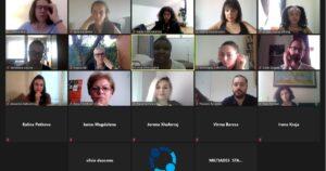 Screenshot from the meeting via zoom
